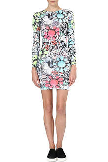 JADED LONDON Neon Jewel stretch-jersey dress