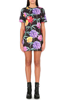 JADED LONDON Floral wallpaper t-shirt dress