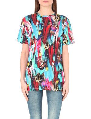 JADED LONDON Feather-print t-shirt