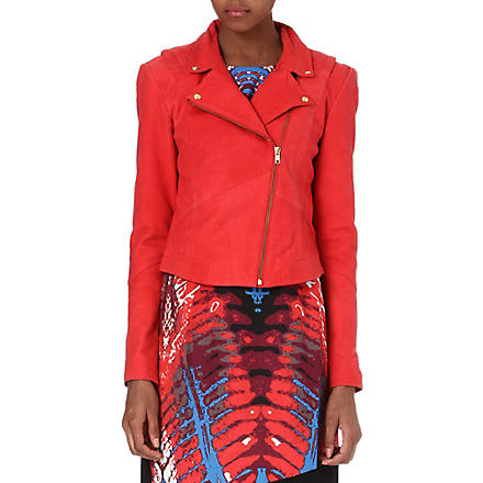 Y.A.S Lien Bicker leather biker jacket (Red