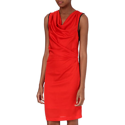 Y.A.S Heart cowl-neck jersey dress (Red