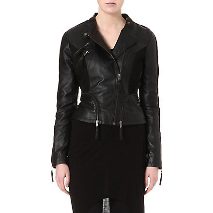 Y.A.S Robyn leather jacket (Black