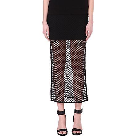 NOISY MAY Jane mesh skirt (Black