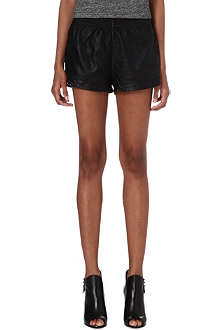 NOISY MAY Moon faux-leather shorts