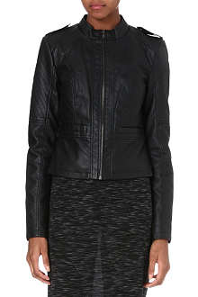 NOISY MAY Faux-leather jacket