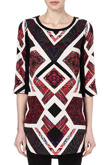 VERO MODA Globe printed tunic dress