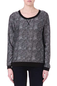 NOISY MAY Hally python-print sweatshirt