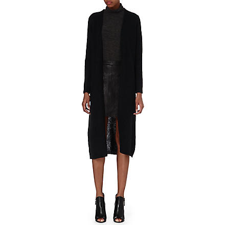 Y.A.S Long knitted cardigan (Black