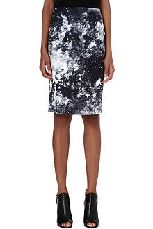 VERO MODA Marble-print pencil skirt