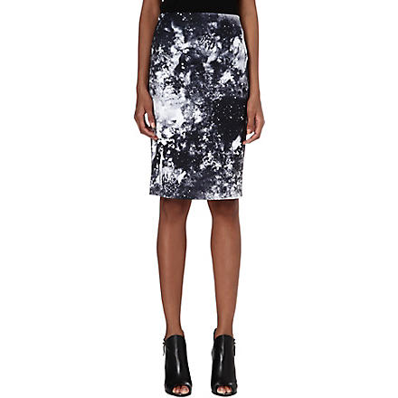VERO MODA Marble-print pencil skirt (Multi-coloured