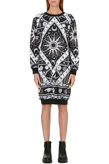 KTZ Astro print sweatshirt dress