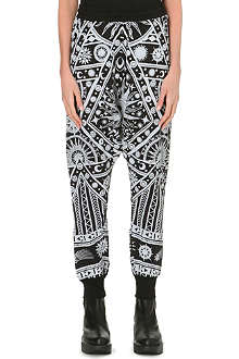 KTZ Astro print harem trousers