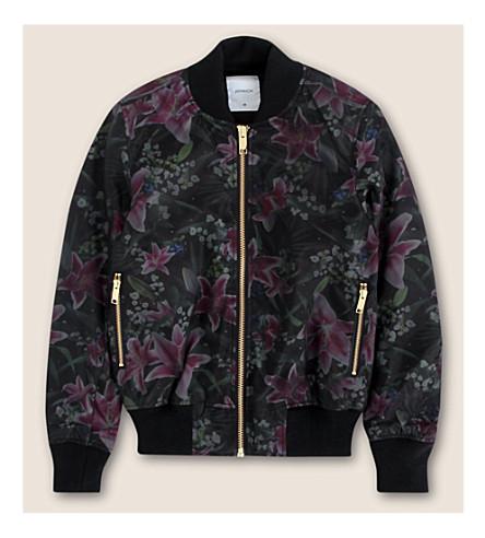 JOYRICH Floral-printed bomber jacket (Black