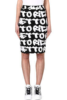 JOYRICH Ghetto Rich graffiti-print skirt