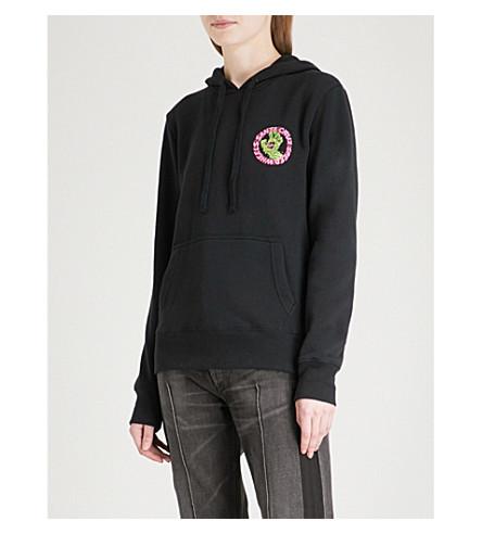 SANTA CRUZ Slimeballs Speedwheels cotton-blend hoody (Black