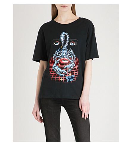 SANTA CRUZ Danger Zone cotton-jersey T-shirt (Black