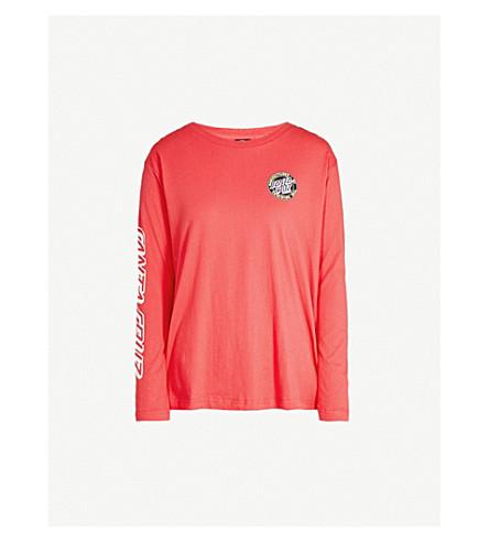 SANTA CRUZ Manufactured cotton-jersey top (Red