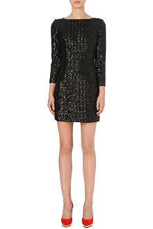 LADRESS Sequined long-sleeve dress