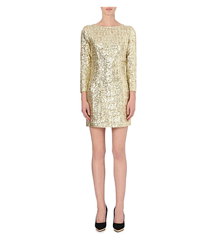 LADRESS Sequinned long-sleeve dress (Gold