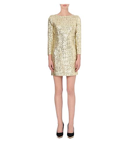 LADRESS Sequinned long-sleeve dress (Gold