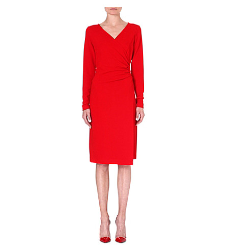 LADRESS Elizabeth wrap-effect dress (Red