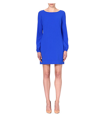 LADRESS Blake bishop-sleeve dress (Cobalt