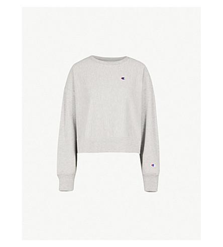 CHAMPION Logo-embroidered cotton-blend sweatshirt (Oxgm