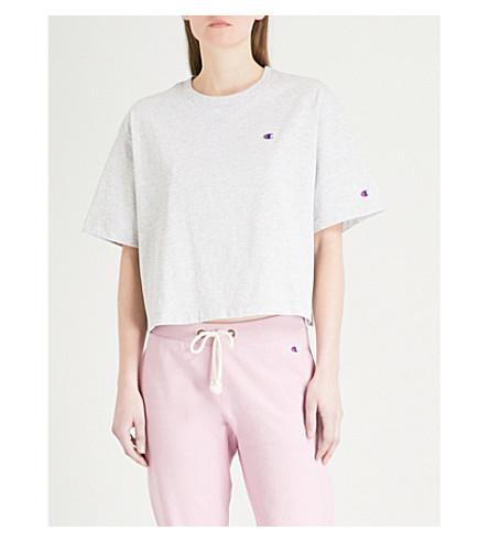 CHAMPION Oversized cotton-blend cropped T-shirt (Loxgm