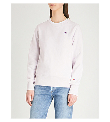 algodón de de con logo Sudadera Lvf jersey bordada CHAMPION IT6qW
