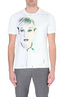 PORTS 1961 Warhol silk-satin and jersey t-shirt