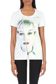 PORTS 1961 Warhol silk-satin and jersey t-shirt