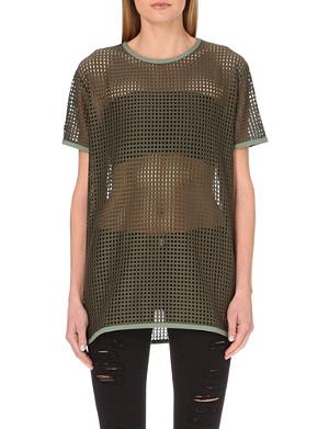 HOT MESS Sheer mesh t-shirt
