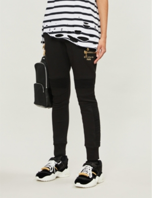 Puma x Balmain embellished stretch-jersey jogging bottoms