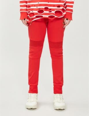 Puma x Balmain tapered high-rise cotton-jersey jogging bottoms