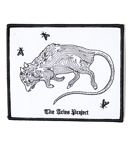 ARIES Rat embrodiered patch (Black