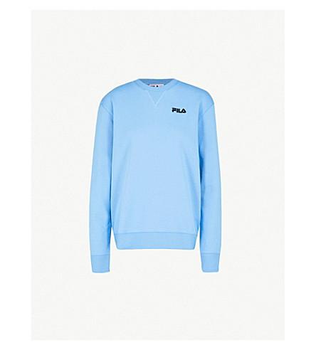 FILA Logo-embroidered jesersey sweatshirt (Lake+blue