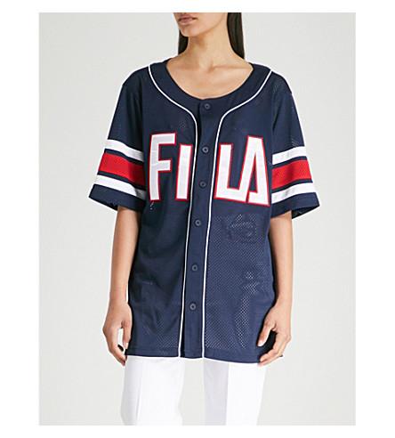 FILA Basketball mesh T-shirt (Peac/wht/cred