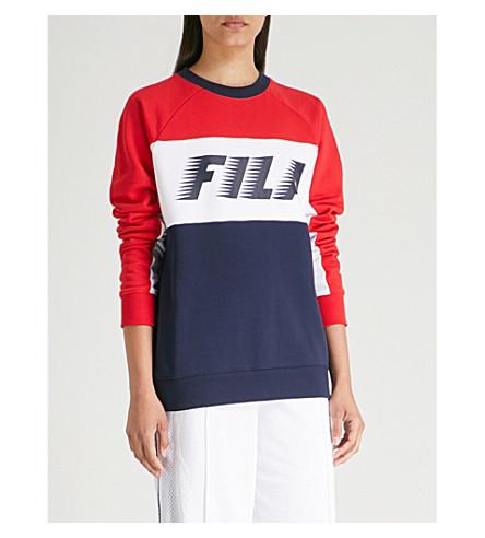 FILA对比镶板平纹针织面料卫衣 (Peac/信誉/西隧