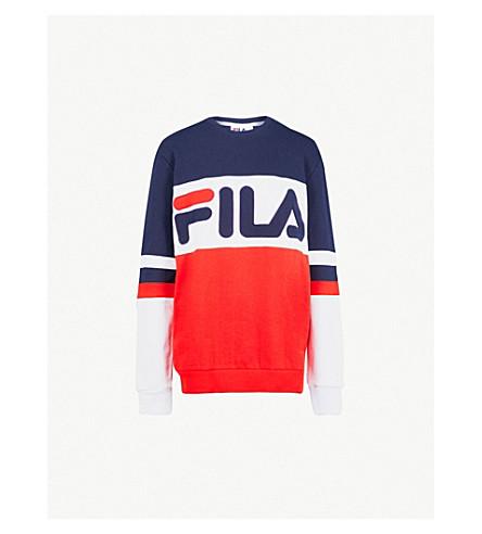 FILA Freddie logo-print cotton-blend sweatshirt (Red
