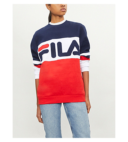 FILA Freddie logo-print cotton-blend sweatshirt (Red