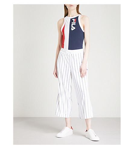 FILA Colour-block cotton-jersey body (Peacoat