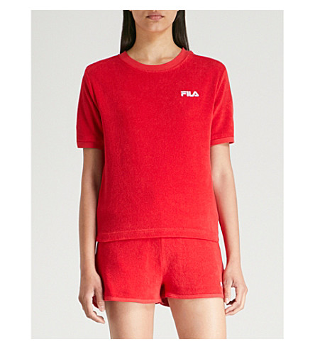 FILA Logo-embroidered towelling T-shirt (Chinesered