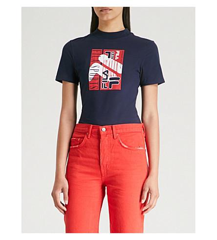 FILA Logo-print stretch-jersey bodysuit (Peac/cred/wht