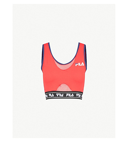 FILA Brenda stretch-woven bra top (Red