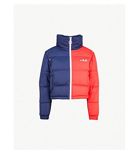 FILA Martina cropped shell puffer jacket (Red