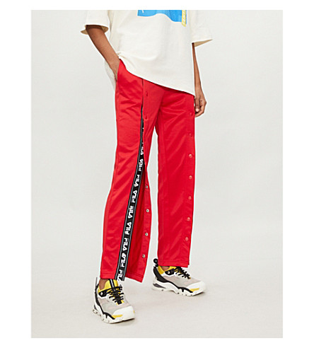 FILA Alice popper-fastened jersey jogging bottoms (Red