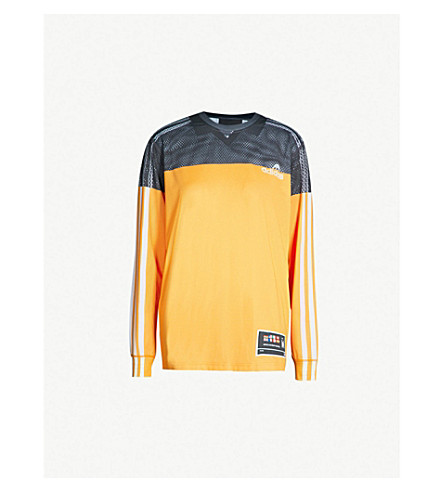 ADIDAS X ALEXANDER WANG Photocopy logo-print stretch-jersey top (Tactilyel
