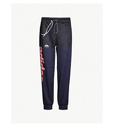 ADIDAS X ALEXANDER WANG adidas x Alexander Wang side-stripe stretch-jersey jogging bottoms (Legendink / scarlet