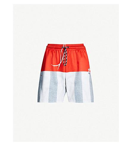 ADIDAS X ALEXANDER WANG Photocopy striped stretch-jersey shorts (Stbrick