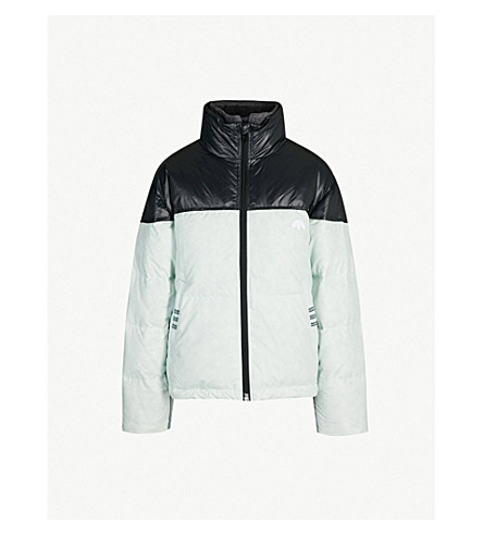 ADIDAS X ALEXANDER WANG Disjoin shell and down-blend jacket (Clearmint / black